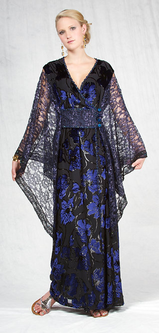 Lace Wrap-Around Caftan