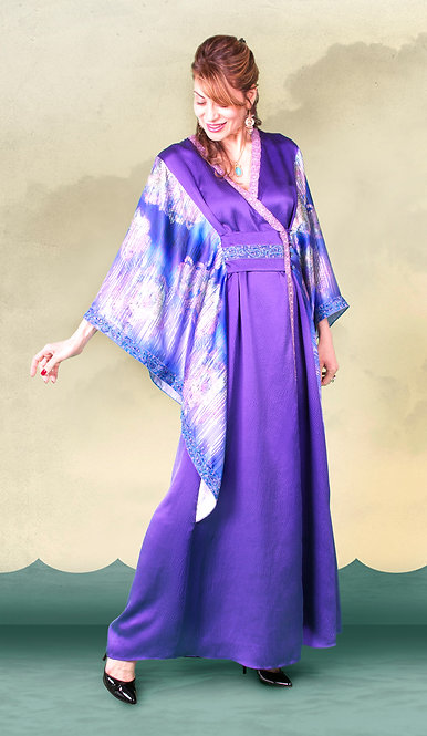 Purple Fantasy Wrap Caftan