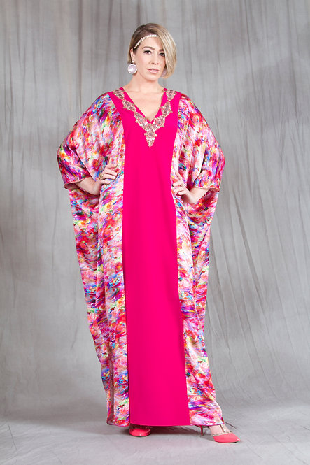 Hot Pink Monet Caftan