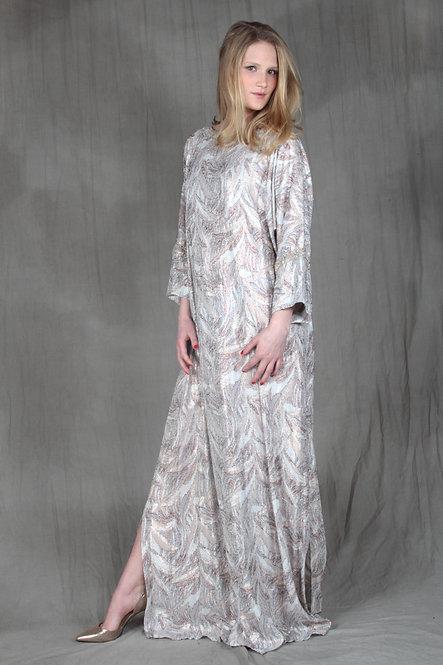 Ivory Metallic Gown
