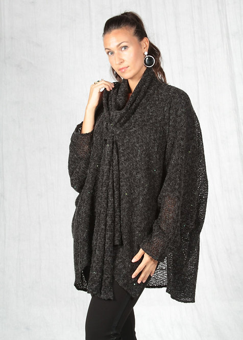 Charcoal and Sequin Wrap
