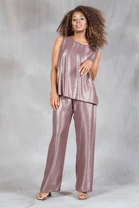 Glittery tops and pants