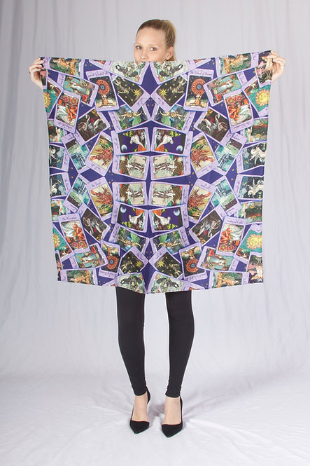 Enchanted Love Tarot Square Silk Scarf