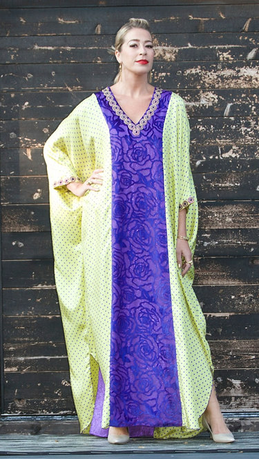 Purple Dot Caftan
