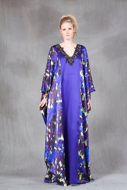 Violet and Purple Print Caftan