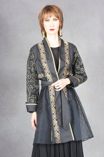 Black & Gold Tie Jacket
