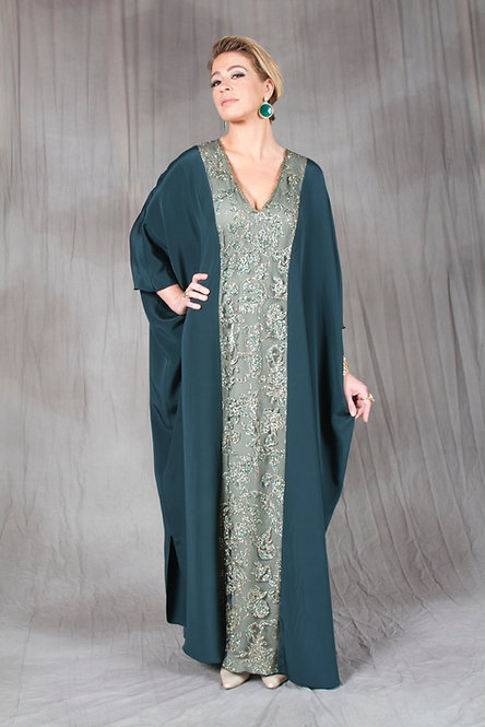 Dark Green Glitter Caftan