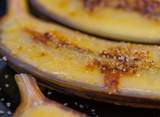 Bananes flambées à la plancha