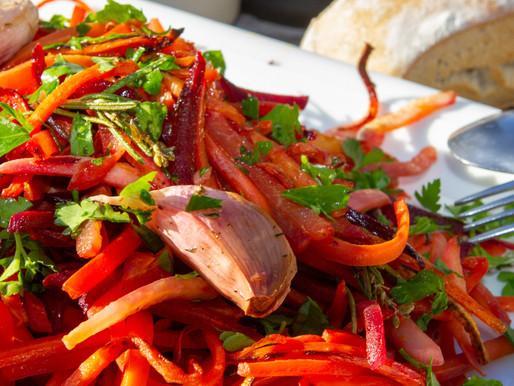 Julienne de légumes racines à la plancha