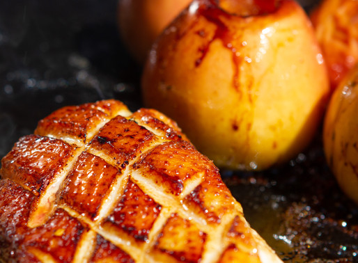 Magrets de canard aux pommes