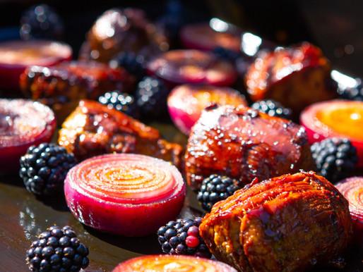 Filet mignon de porc laqué au Mûres