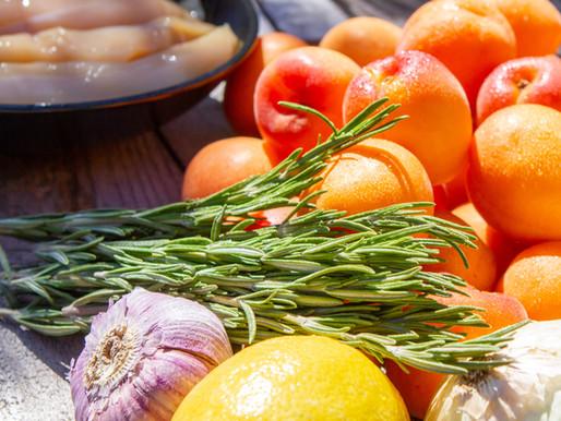 Brochettes sucrées-salées : poulet&abricots