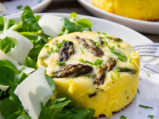 Clafoutis asperges vertes & parmesan