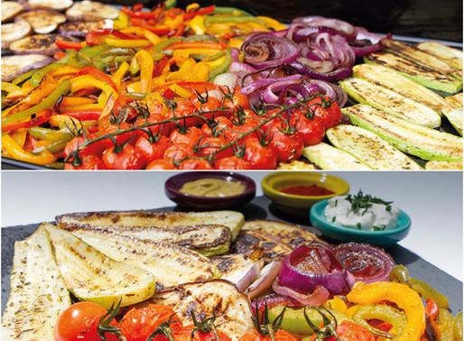 Planche de légumes rôtis :