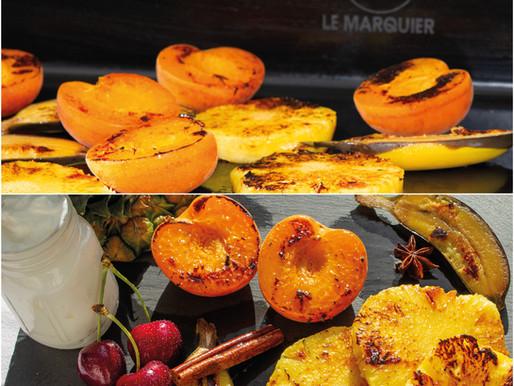Fruits rôtis miel-citron :