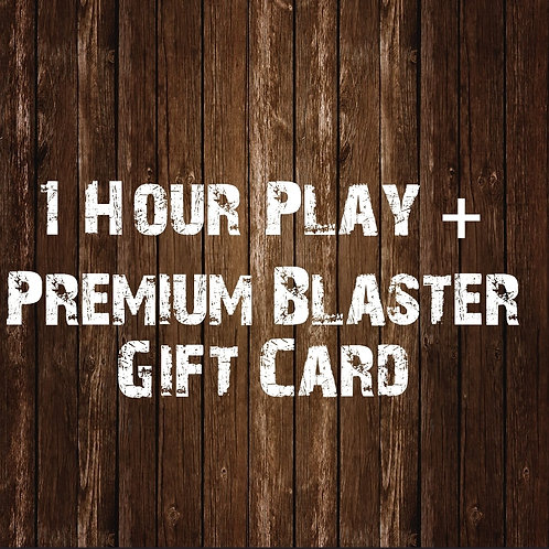 1 Hour Play & Premium Blaster Gift Card