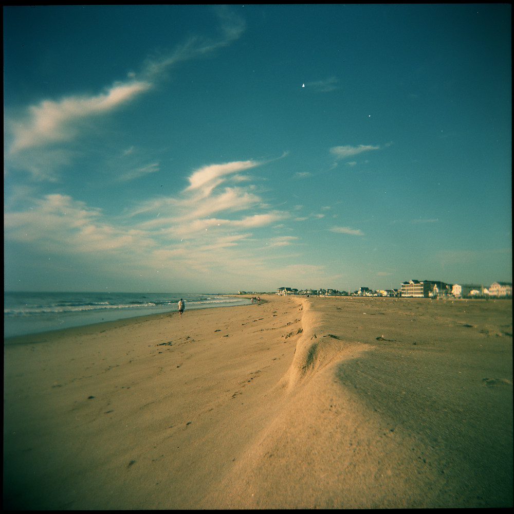 Hampton Beach NH, naturally formed sand dune