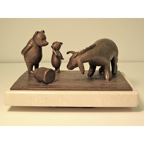 Eeyore, Pooh, and Piglet Maquette