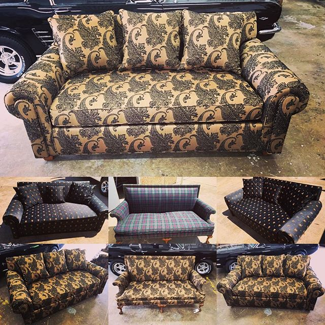 A project blcobtracted by an #interiordesigner. 2 different couches. One with #bug fabric and anothe