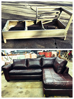 Frame and sectional