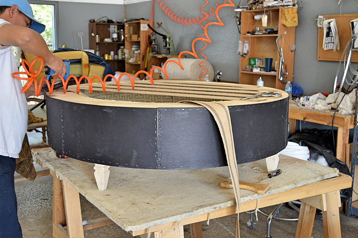 Custom Built Furniture. White Oak Table; TuftedOttoman2 ...