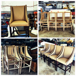 Frame and Chair with nailheads