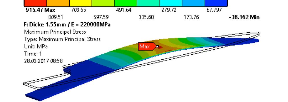 3-point bending test FEM simulation