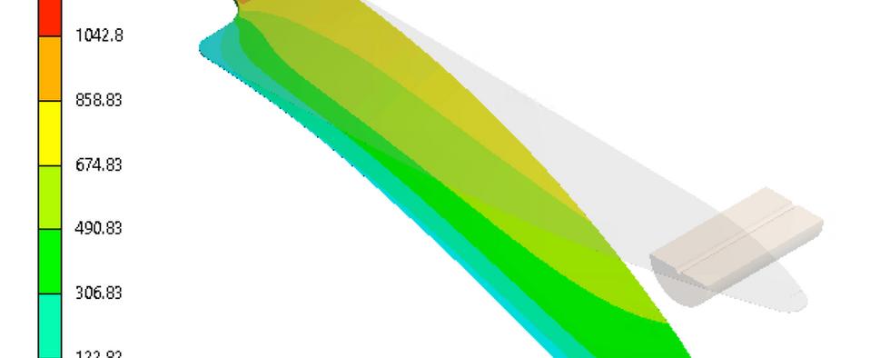 FEM analysis deflection trial knife blank