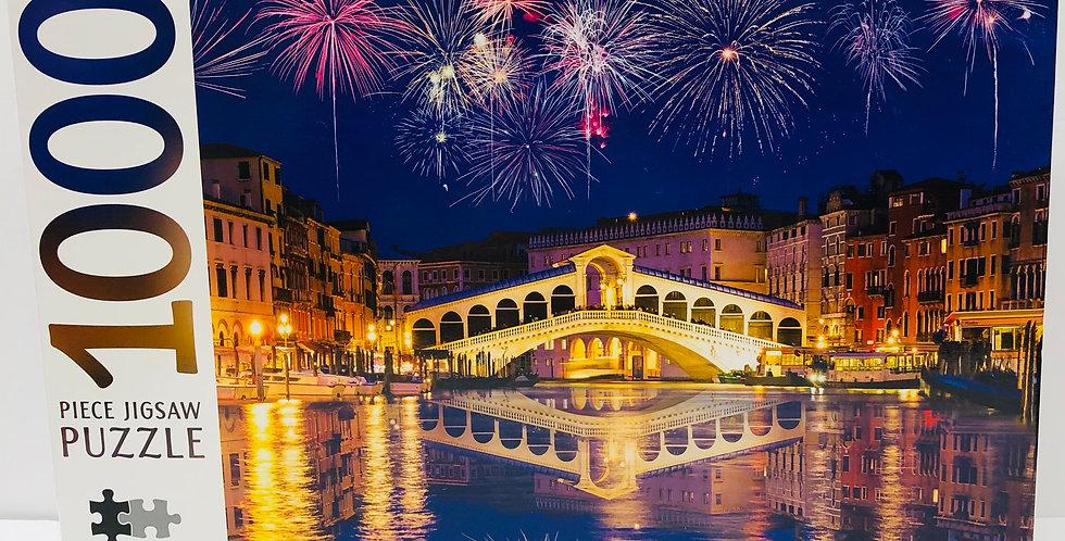 Mindbogglers 1000 Piece Puzzle: Rialto Bridge Venice