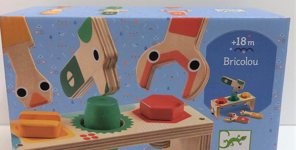 Djeco Bricolou wooden mini workbench 18m+
