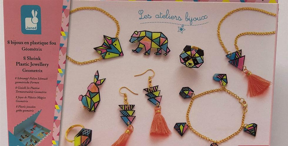 Janod Shrink Plastic Jewellery, Age 8+