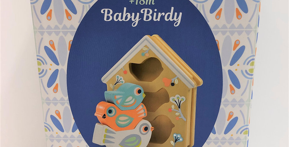 Djeco Baby Birdy wooden stacking and sorting 18m+