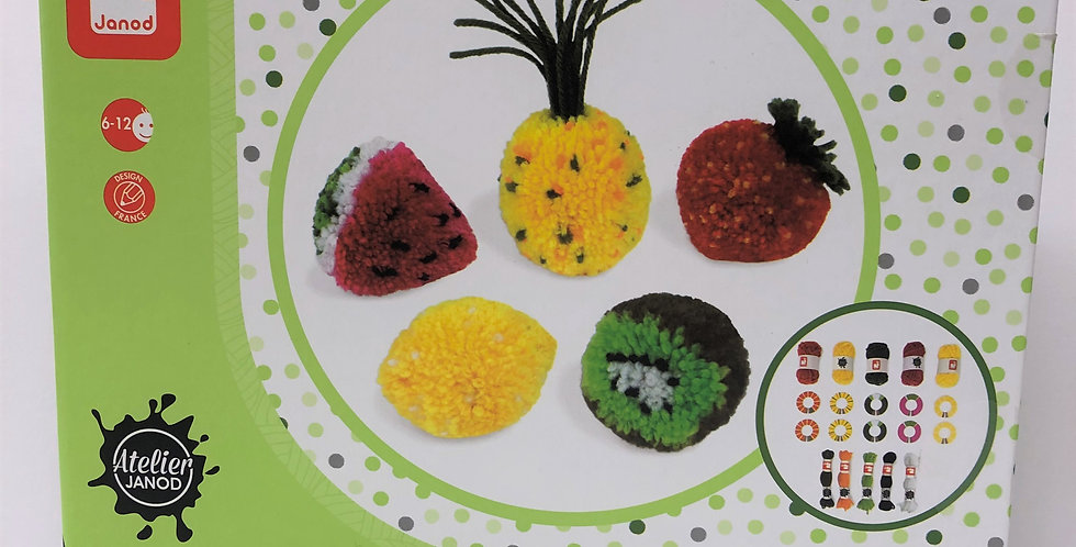 Janod Fruit Pompoms age 6+