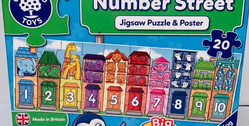 Orchard Toys Number Street floor puzzle
