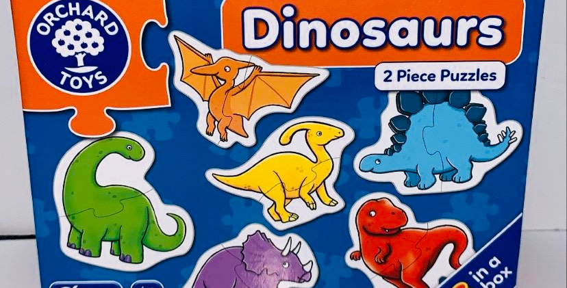 Orchard Toys 2 piece puzzles Dinosaurs