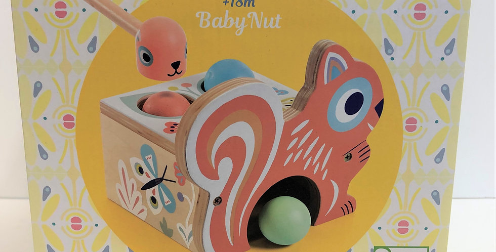Djeco Baby Nut wooden pounding toy 18m+
