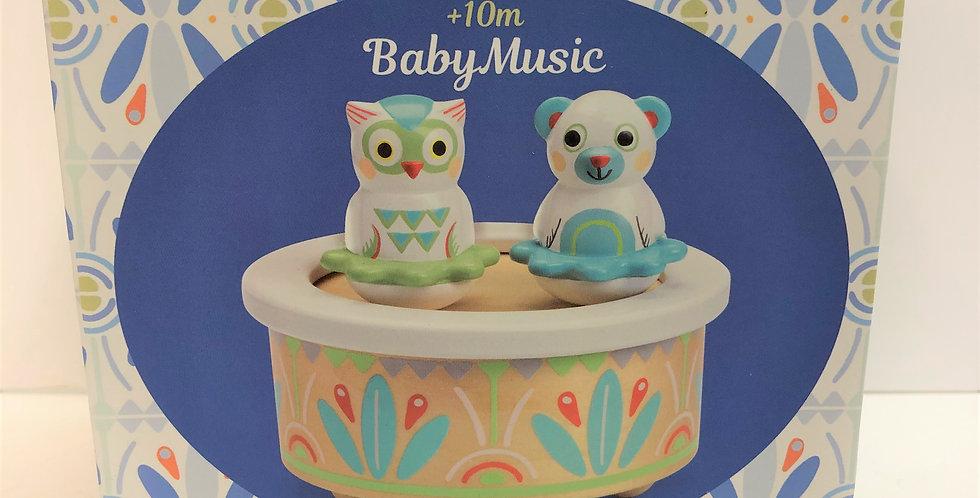 Djeco Baby Music dancing musical box 10m+
