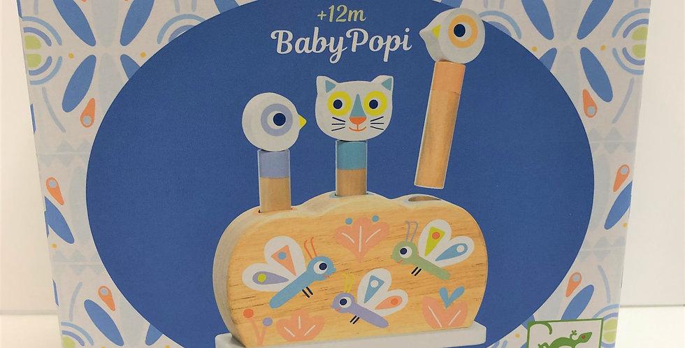 Djeco Baby Popi wooden pop up toy 12m+