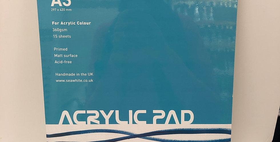 Seawhite Acrylic Pad A3