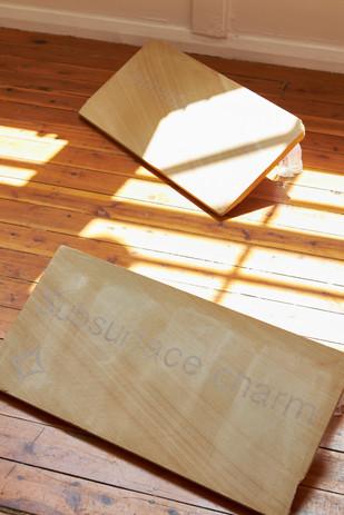 Jack De Lacy  'Subsurface Charm' sandstone, resin 3D print, 60 x 30 x 15cm, 3D models produced by Takayuki Arai of Sophia University, Tokyo  'Thick Interiorities' sandstone, resin 3D print, 60 x 30 x 15cm, 2019 POA 3D models produced by Takayuki Arai of Sophia University, Tokyo