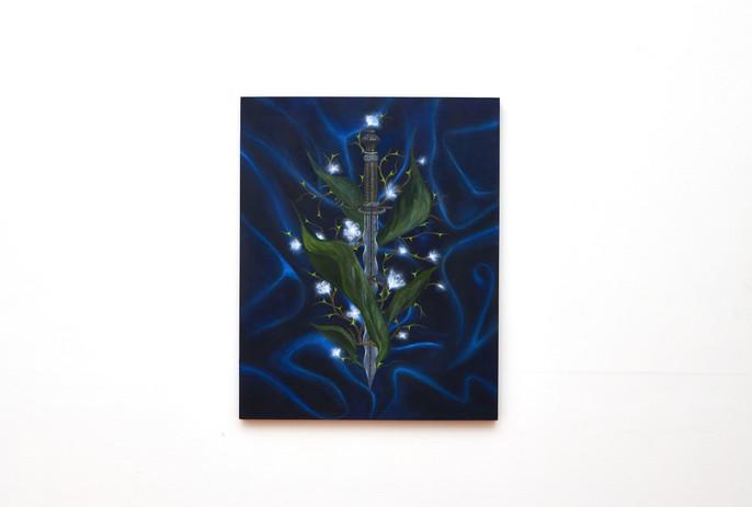 Mia Middleton  'The Dark Door' acrylic on board 50 x 40
