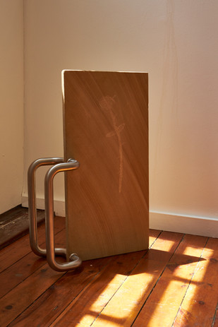 Jack Delacy  'You will not need a map' sandstone, handrail,  60 x 30 x 10cm