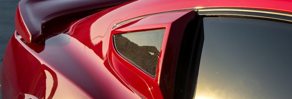 2015 - 2019 Mustang GT350RR Carbon Fiber Quarter Window Scoops