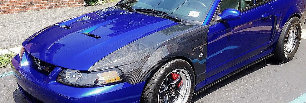 1999 - 2004 Mustang OEM Style Carbon Fiber Fenders