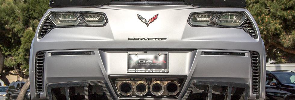 2014+ Corvette Carbon Fiber Rear Taillight Bezels