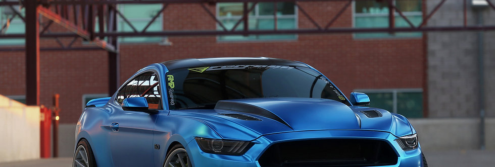 2015 - 2017 Mustang Fiberglass 3″ Cowl Hood