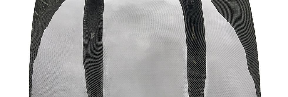 2005 - 2013 C6 Corvette Carbon Fiber Raised Super Charger Hood