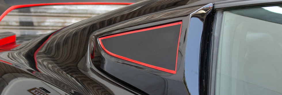 2015 - 2019 Mustang GT350RR Fiberglass Quarter Window Scoops