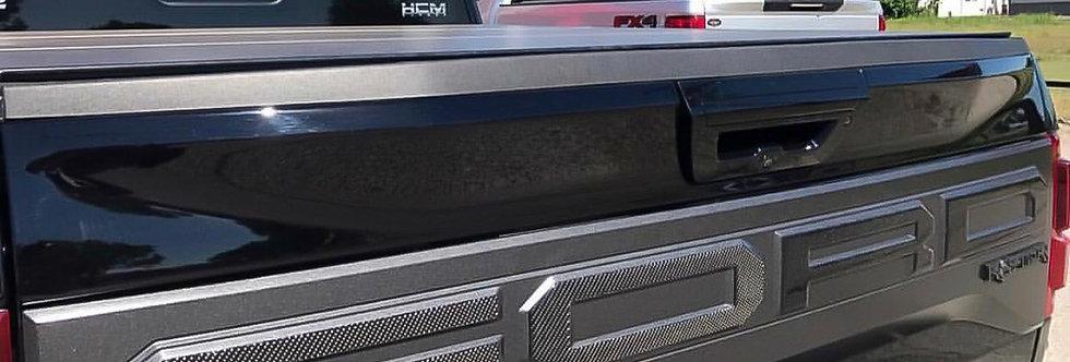 2017+ Raptor Carbon Fiber Rear Tailgate Overlays
