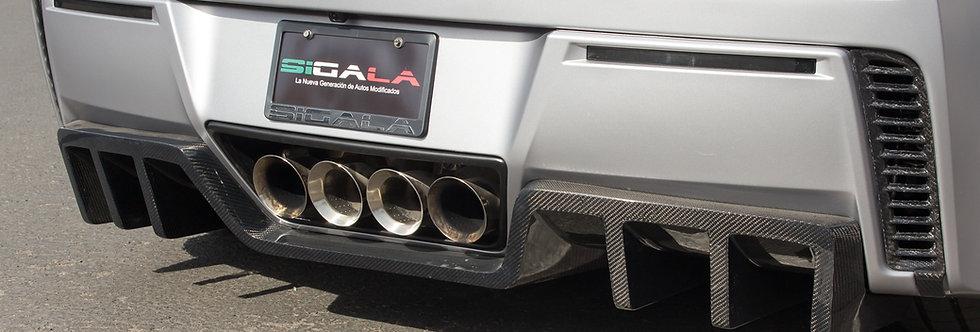 2014+ Corvette Carbon Fiber Sigala Rear Diffuser